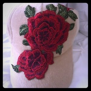 Brand new trendy floral design cap.